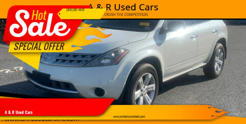 2006 Nissan Murano for sale at A & R Used Cars in Clayton NJ