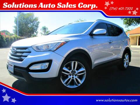 2013 Hyundai Santa Fe Sport for sale at Solutions Auto Sales Corp. in Orange CA