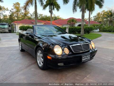 2003 Mercedes-Benz CLK for sale at Autohaus of Naples Inc. in Naples FL