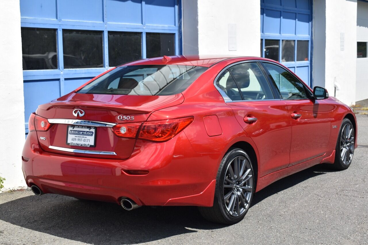 2017 Infiniti Q50 Red Sport 400 AWD 4dr Sedan full