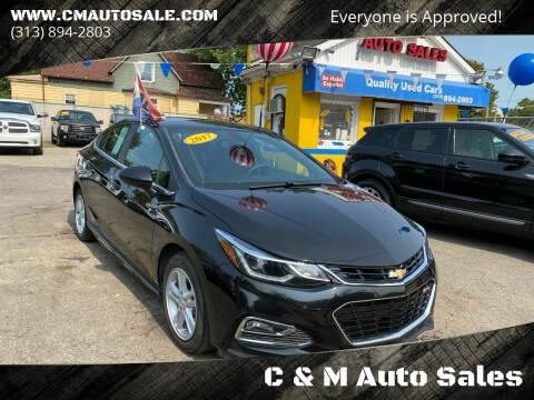2016 Chevrolet Cruze for sale at C & M Auto Sales in Detroit MI