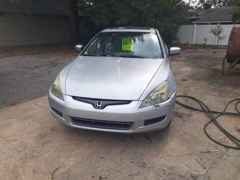 2003 Honda Accord for sale at PIRATE AUTO SALES in Greenville NC
