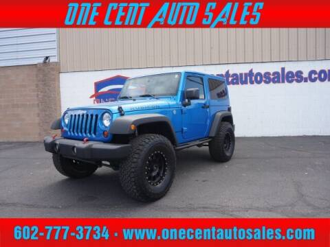 2016 Jeep Wrangler for sale at One Cent Auto Sales in Glendale AZ