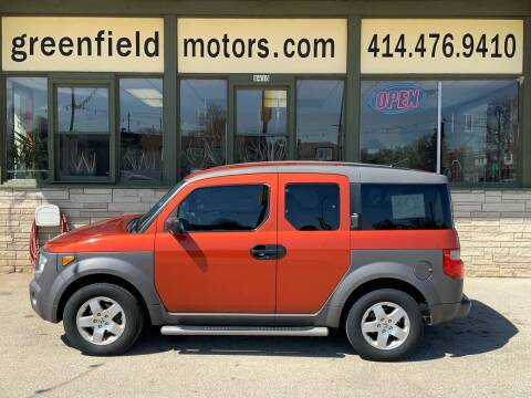2003 Honda Element for sale at GREENFIELD MOTORS in Milwaukee WI