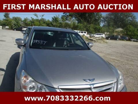 2011 Hyundai Genesis for sale at First Marshall Auto Auction in Harvey IL
