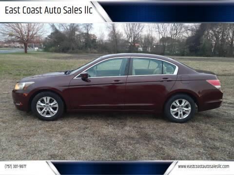 2009 Honda Accord for sale at East Coast Auto Sales llc in Virginia Beach VA