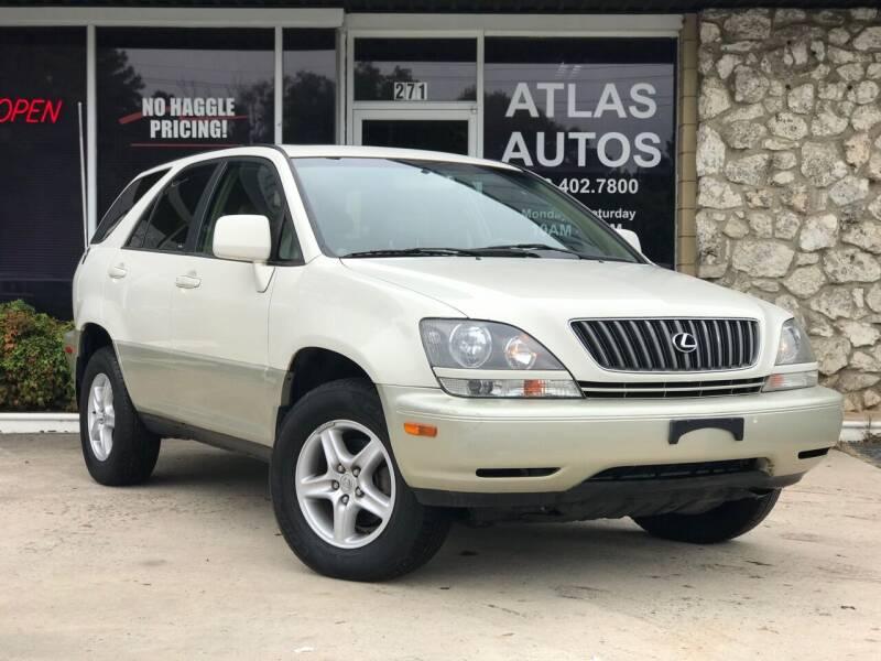 2000 Lexus RX 300 for sale at ATLAS AUTOS in Marietta GA