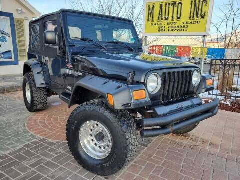 2005 Jeep Wrangler for sale at M AUTO, INC in Millcreek UT