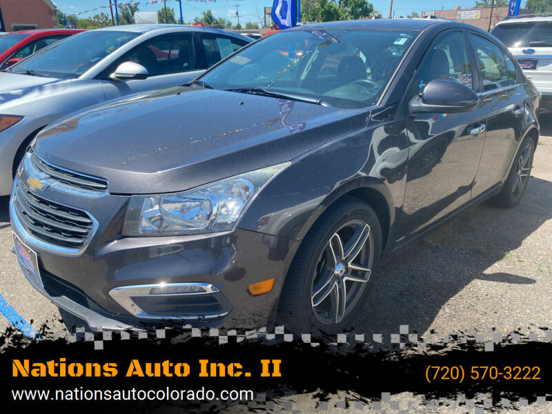 2015 Chevrolet Cruze for sale at Nations Auto Inc. II in Denver CO
