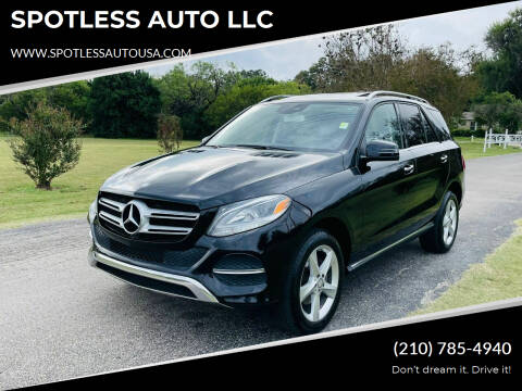 2016 Mercedes-Benz GLE for sale at SPOTLESS AUTO LLC in San Antonio TX