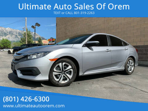 2016 Honda Civic for sale at Ultimate Auto Sales Of Orem in Orem UT