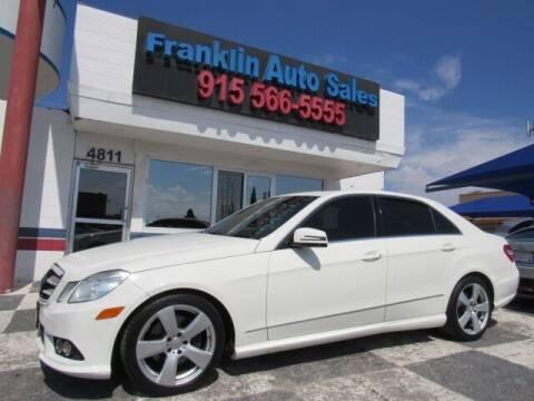 2010 Mercedes-Benz E-Class for sale at Franklin Auto Sales in El Paso TX