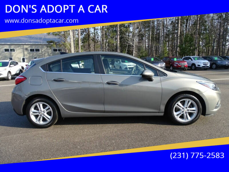 2017 Chevrolet Cruze for sale at DON'S ADOPT A CAR in Cadillac MI