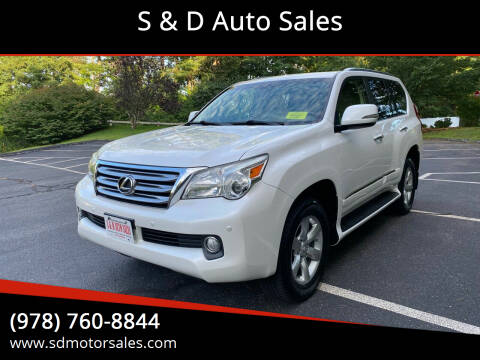 2012 Lexus GX 460 for sale at S & D Auto Sales in Maynard MA