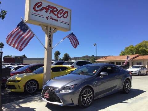 2015 Lexus RC 350 for sale at CARCO SALES & FINANCE - CARCO OF POWAY in Poway CA