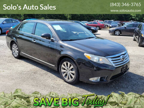 2011 Toyota Avalon for sale at Solo's Auto Sales in Timmonsville SC