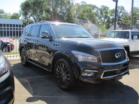 2017 Infiniti QX80 for sale at SOUTHFIELD QUALITY CARS in Detroit MI