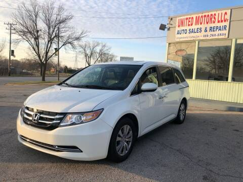 2014 Honda Odyssey for sale at United Motors LLC in Saint Francis WI