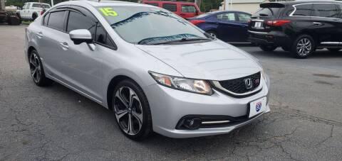 2015 Honda Civic for sale at I-80 Auto Sales in Hazel Crest IL