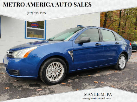 2008 Ford Focus for sale at METRO AMERICA AUTO SALES of Manheim in Manheim PA