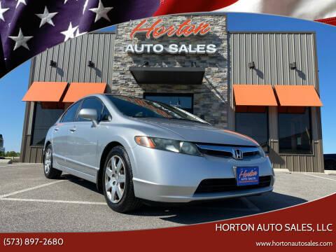2008 Honda Civic for sale at HORTON AUTO SALES, LLC in Linn MO