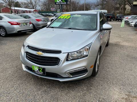 2015 Chevrolet Cruze for sale at BK2 Auto Sales in Beloit WI