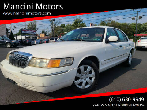 1999 Mercury Grand Marquis for sale at Mancini Motors in Norristown PA