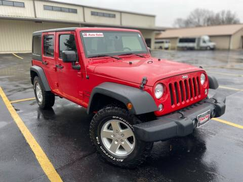 2014 Jeep Wrangler Unlimited for sale at D3 Auto Sales in Des Arc AR