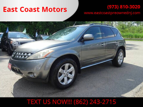 2007 Nissan Murano for sale at East Coast Motors in Lake Hopatcong NJ