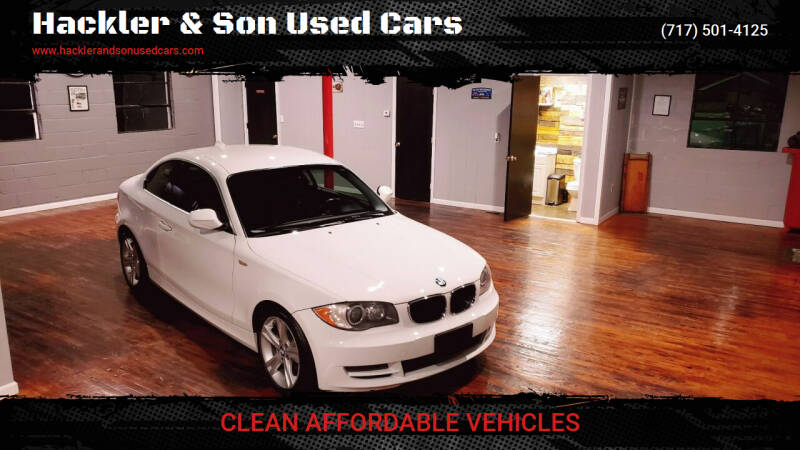 2011 BMW 1 Series for sale at Hackler & Son Used Cars in Red Lion PA