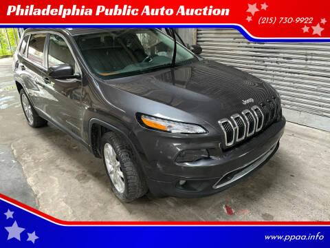 2015 Jeep Cherokee for sale at Philadelphia Public Auto Auction in Philadelphia PA