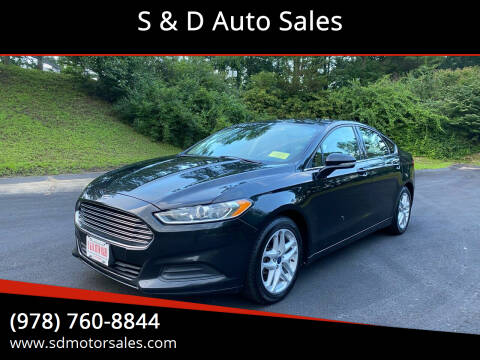 2014 Ford Fusion for sale at S & D Auto Sales in Maynard MA