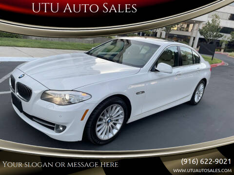 2012 BMW 5 Series for sale at UTU Auto Sales in Sacramento CA