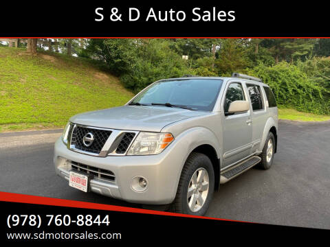 2011 Nissan Pathfinder for sale at S & D Auto Sales in Maynard MA
