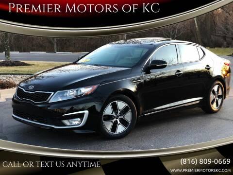 2012 Kia Optima Hybrid for sale at Premier Motors of KC in Kansas City MO