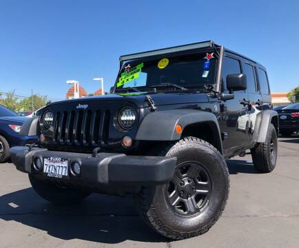 2015 Jeep Wrangler Unlimited for sale at LUGO AUTO GROUP in Sacramento CA