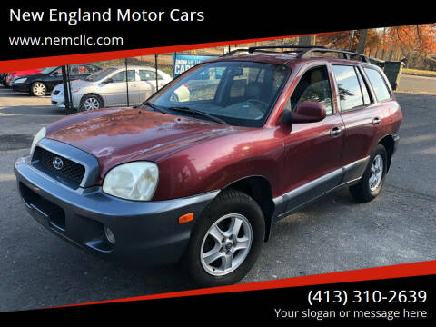 2002 Hyundai Santa Fe for sale at New England Motor Cars in Springfield MA