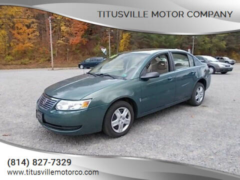 2007 Saturn Ion for sale at Titusville Motor Company in Titusville PA
