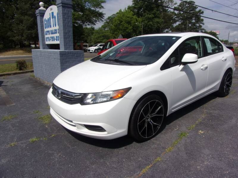 2012 Honda Civic for sale at Good To Go Auto Sales in Mcdonough GA
