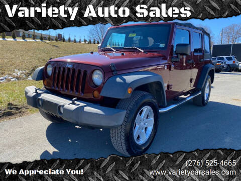 2010 Jeep Wrangler Unlimited for sale at Variety Auto Sales in Abingdon VA