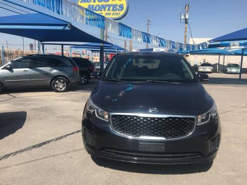 2015 Kia Sedona for sale at Autos Montes in Socorro TX