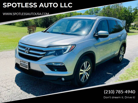 2016 Honda Pilot for sale at SPOTLESS AUTO LLC in San Antonio TX