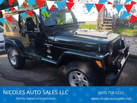 1997 Jeep Wrangler for sale at NICOLES AUTO SALES LLC in Cream Ridge NJ