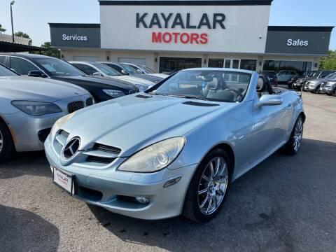 2005 Mercedes-Benz SLK for sale at KAYALAR MOTORS in Houston TX