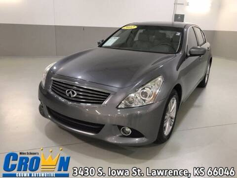 2012 Infiniti G37 Sedan for sale at Crown Automotive of Lawrence Kansas in Lawrence KS