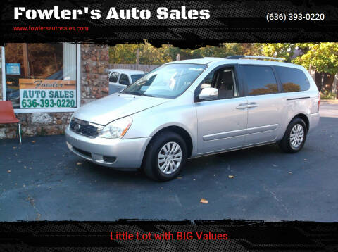 2012 Kia Sedona for sale at Fowler's Auto Sales in Pacific MO
