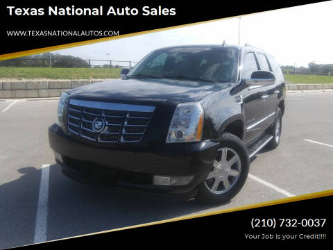 2008 Cadillac Escalade for sale at Texas National Auto Sales in San Antonio TX