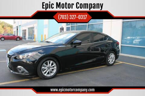 2015 Mazda MAZDA3 for sale at Epic Motor Company in Chantilly VA