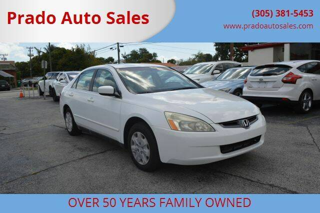2003 Honda Accord for sale at Prado Auto Sales in Miami FL