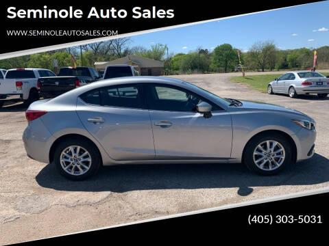 2016 Mazda MAZDA3 for sale at Seminole Auto Sales in Seminole OK